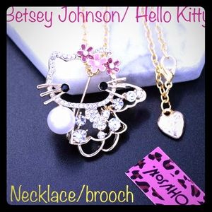 NWT SAN RIO/BETSEY JOHNSON BROOCH NECKLACE OPTION